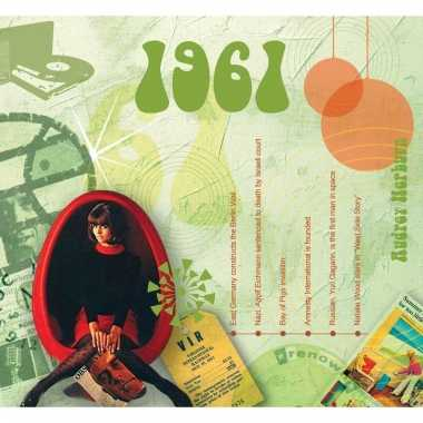 Verjaardag cd-kaart met jaartal 1961