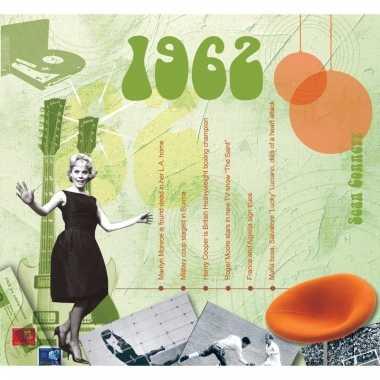 Verjaardag cd-kaart met jaartal 1962