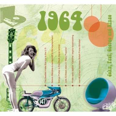 Verjaardag cd-kaart met jaartal 1964