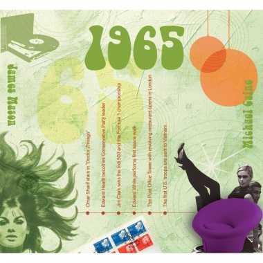Verjaardag cd-kaart met jaartal 1965