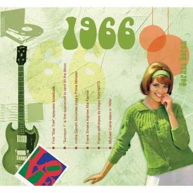 Verjaardag cd-kaart met jaartal 1966