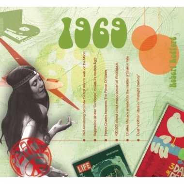 Verjaardag cd-kaart met jaartal 1969