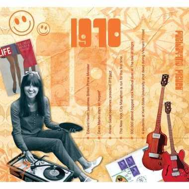 Verjaardag cd-kaart met jaartal 1970