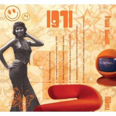 Verjaardag cd-kaart met jaartal 1971