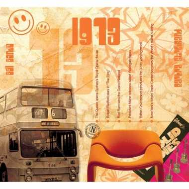 Verjaardag cd-kaart met jaartal 1973