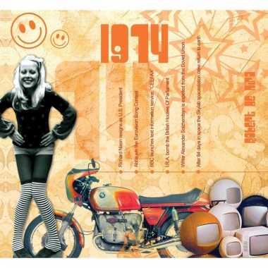 Verjaardag cd-kaart met jaartal 1974