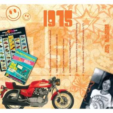 Verjaardag cd-kaart met jaartal 1975