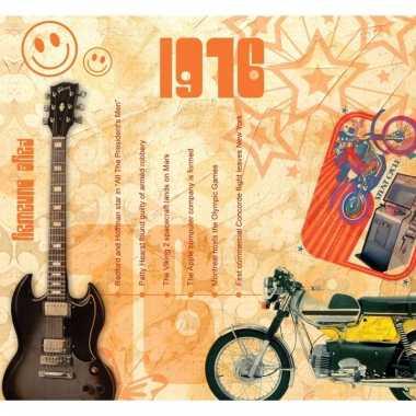 Verjaardag cd-kaart met jaartal 1976