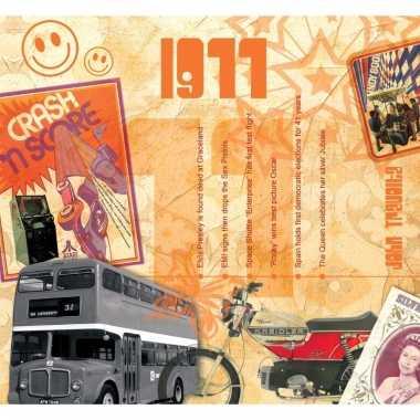 Verjaardag cd-kaart met jaartal 1977