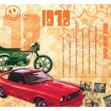 Verjaardag cd-kaart met jaartal 1978