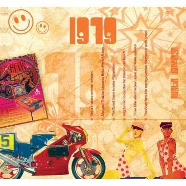 Verjaardag cd-kaart met jaartal 1979