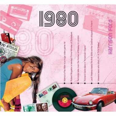 Verjaardag cd-kaart met jaartal 1980