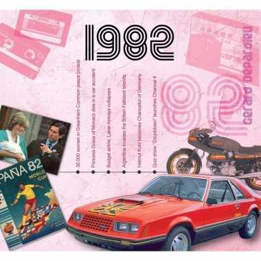Verjaardag cd-kaart met jaartal 1982