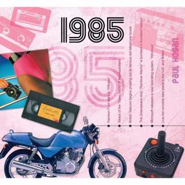 Verjaardag cd-kaart met jaartal 1985