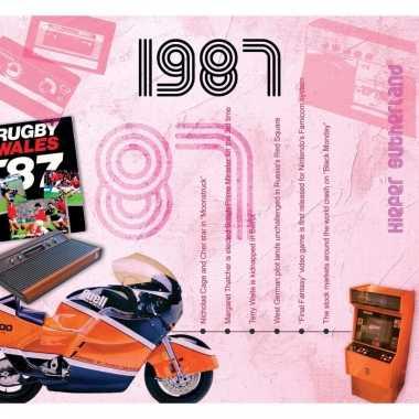 Verjaardag cd-kaart met jaartal 1987