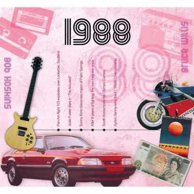 Verjaardag cd-kaart met jaartal 1988