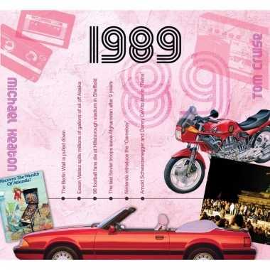 Verjaardag cd-kaart met jaartal 1989
