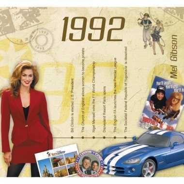 Verjaardag cd-kaart met jaartal 1992