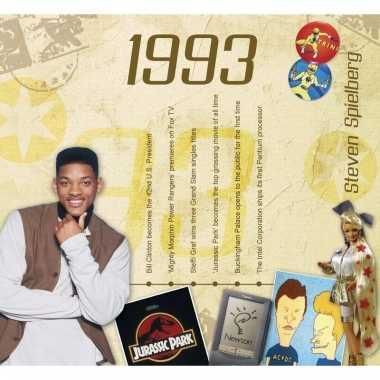 Verjaardag cd-kaart met jaartal 1993
