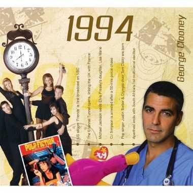 Verjaardag cd-kaart met jaartal 1994