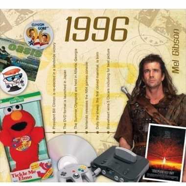 Verjaardag cd-kaart met jaartal 1996