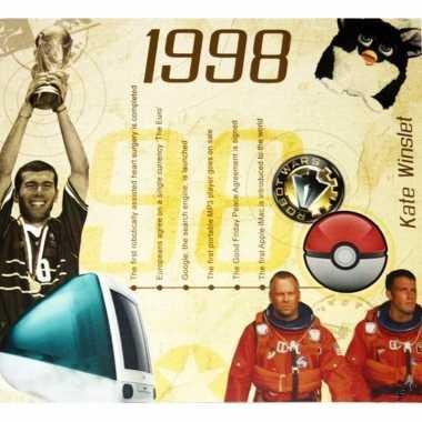 Verjaardag cd-kaart met jaartal 1998