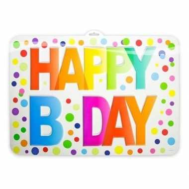 Verjaardag deurbord b-day 52 cm
