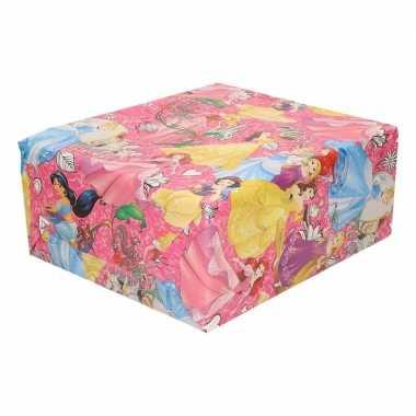 Verjaardag kadopapier disney princess roze 200 x 70 cm