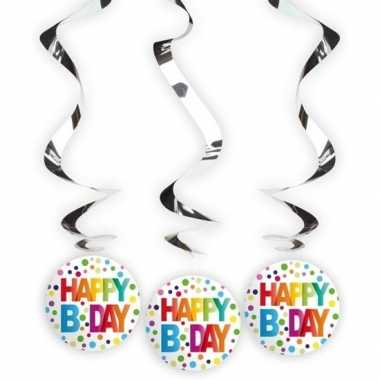 Verjaardag rotorspiralen b-day 3 stuks