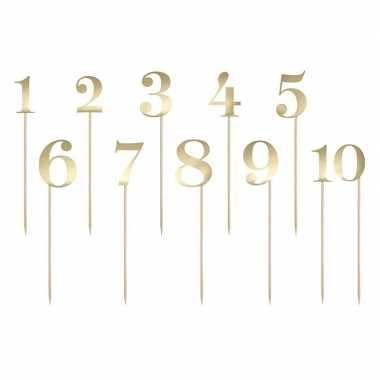 Verjaardag taart versiering cijfers goud