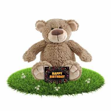 Verjaardagcadeau beren knuffel 40 cm + gratis verjaardagskaart
