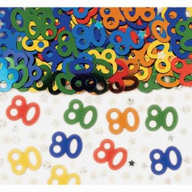 Verjaardags confetti 80 jaar
