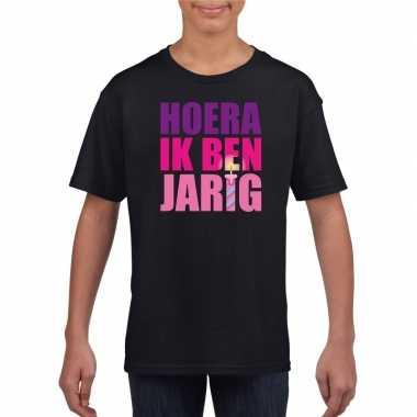 Verjaardags t-shirt voor meisjes roze