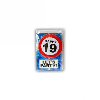Verjaardagskaart 19 jaar