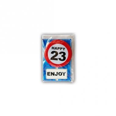Verjaardagskaart 23 jaar