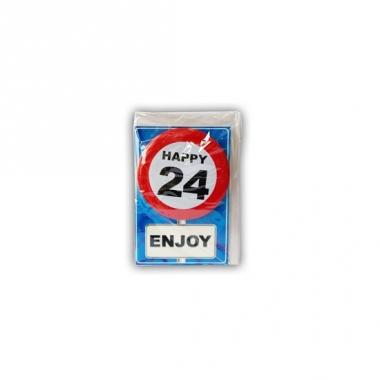 Verjaardagskaart 24 jaar
