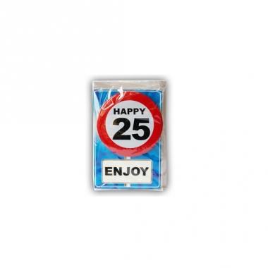 Verjaardagskaart 25 jaar