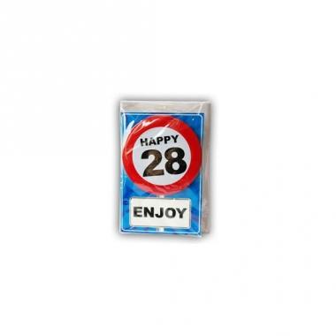 Verjaardagskaart 28 jaar