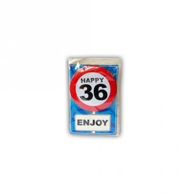 Verjaardagskaart 36 jaar