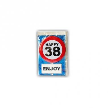 Verjaardagskaart 38 jaar