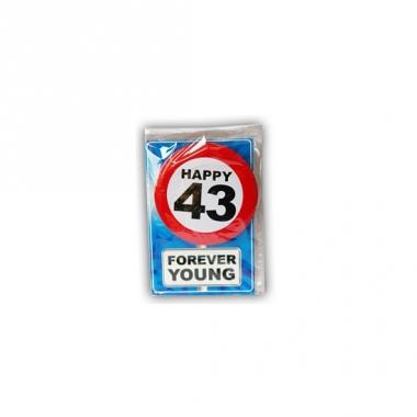 Verjaardagskaart 43 jaar