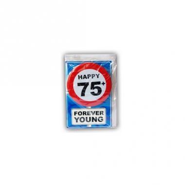 Verjaardagskaart 75 jaar