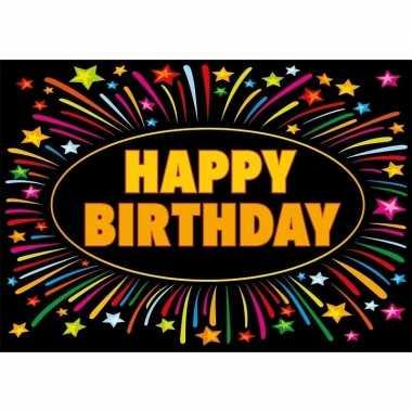 Verjaardagskaart happy birthday 21 x 14,8 cm