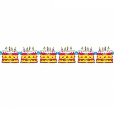 Verjaardagsslingers taart