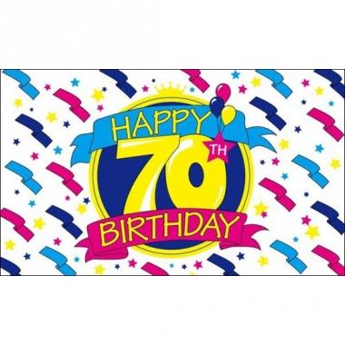 Verjaardagsvlag happy birthday 70
