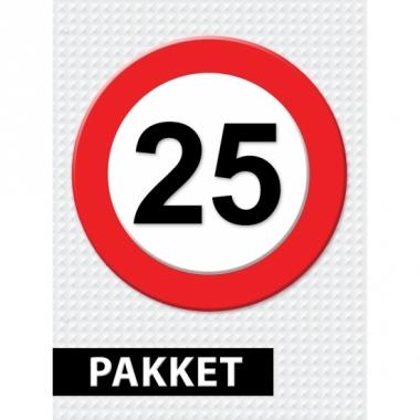 Verkeersbord 25 jaar versiering pakket
