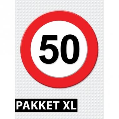 Verkeersbord 50 jaar versiering pakket xl