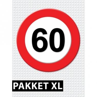 Verkeersbord 60 jaar versiering pakket xl
