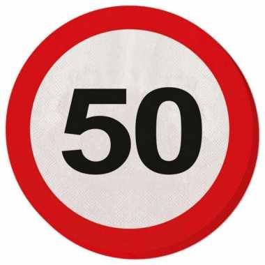 Verkeersbord servetten 50 jaar