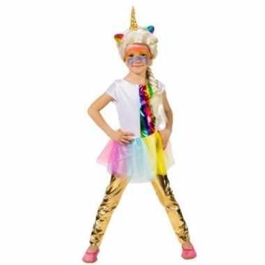 Verkleed accessoire legging goud voor kinderen